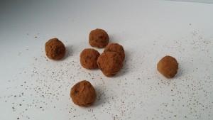 amazing avocado truffles rolled in cocoa powder