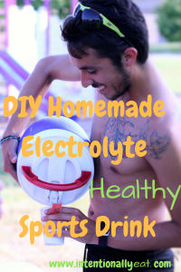 DIY Homemade Electrolyte Sports Drink