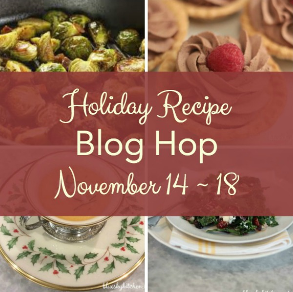 images of holiday recipes and holiday blog hop