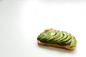 toast with avocado slices on top