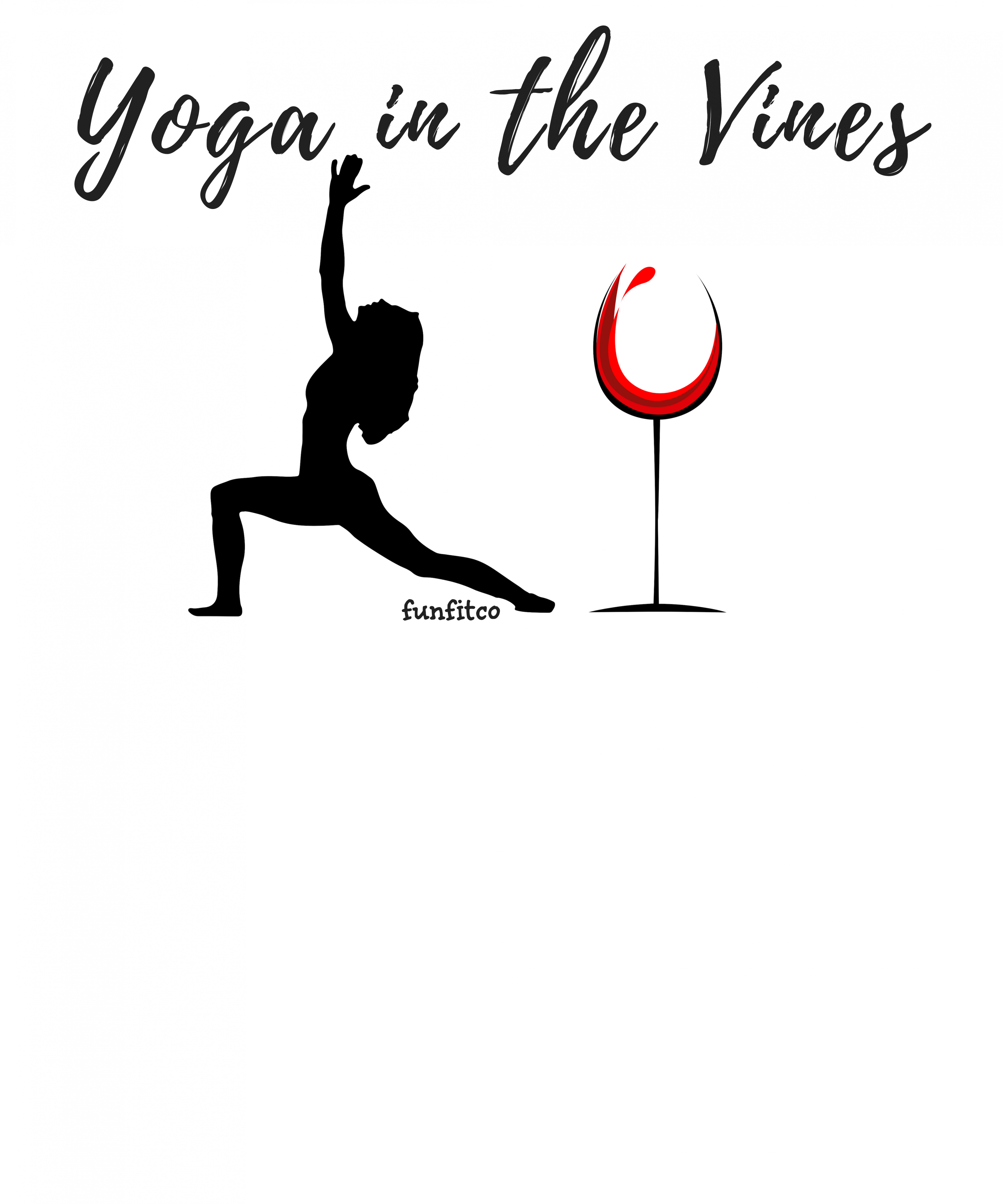 yoga in the vines with cindy newland image of woman in warrior pose and wine glass