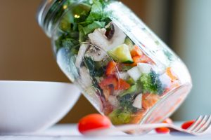 image of mason jar salad for 7 best meal prep hacks by intentionally eat