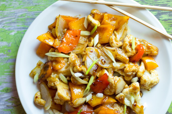 image of kung pao cauliflower by Cindy Newland with Intentionally Eat