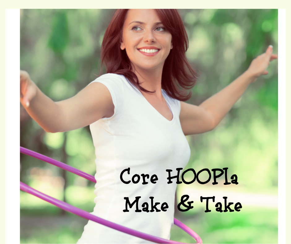 Core HOOPla Make & Take with Cindy Newland image of a woman with a hula hoop